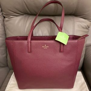 NWT Kate Spade Hallie Hopkins Street Plum Leather
